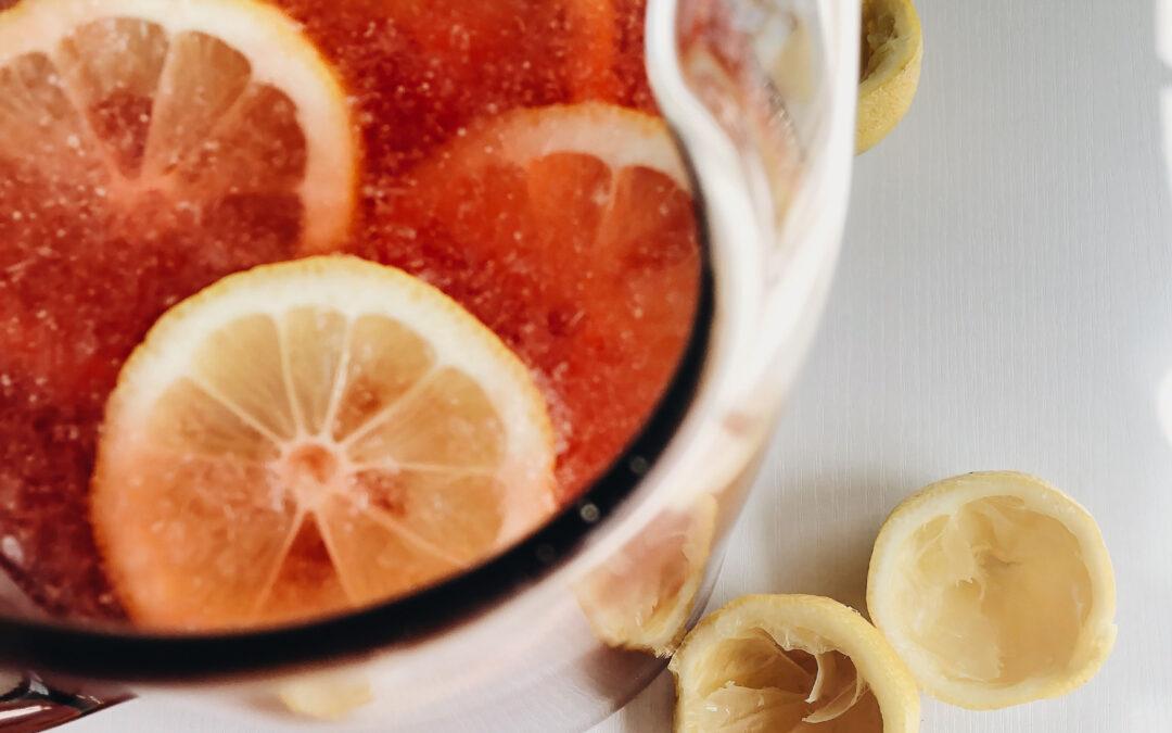Strawberry Mint Honey Lemonade